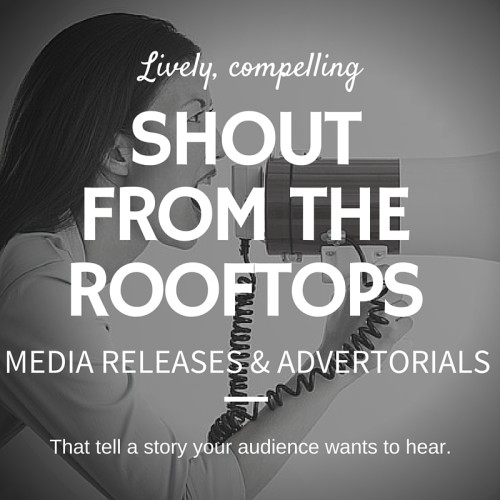 MEDIA RELEASES & ADVERTORIALS